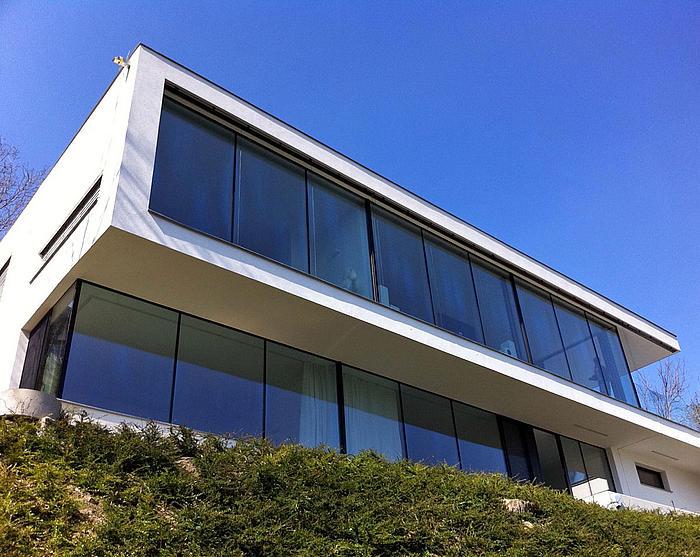 Ganzglas design fenster m nchen josef maier - Fenster abdeckleisten aussen ...